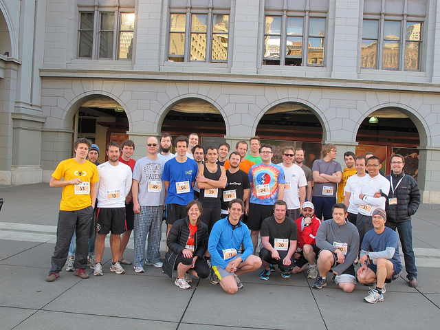 Healthy Hacker Fun Run group photo