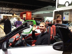 Derek at the auto show